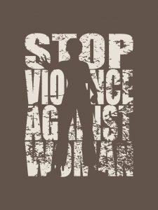 Stoppa mäns våld mot kvinnor.